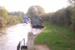 And, because Rolt loved working boats so much, here's a snap of some dredgers we passed in a lock this morning, on their way to Cropredy.